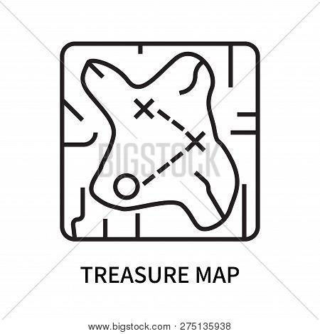 Treasure Map Icon Isolated On White Background. Treasure Map Icon Simple Sign. Treasure Map Icon Tre