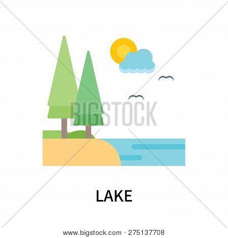 Lake Icon Isolated On White Background. Lake Icon Simple Sign. Lake Icon Trendy And Modern Symbol Fo