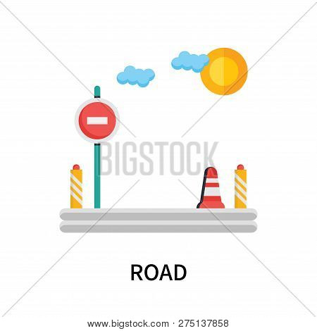 Road Icon Isolated On White Background. Road Icon Simple Sign. Road Icon Trendy And Modern Symbol Fo