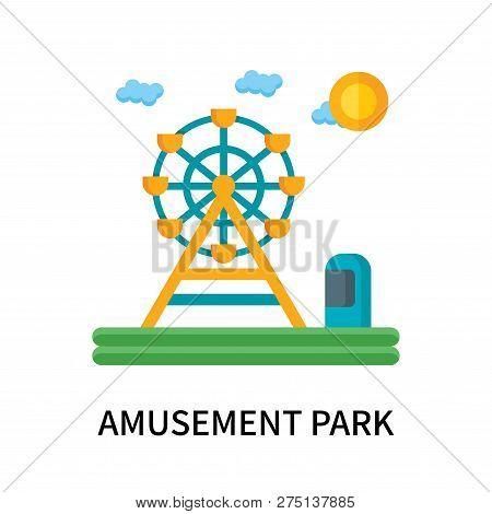 Amusement Park Icon Isolated On White Background. Amusement Park Icon Simple Sign. Amusement Park Ic