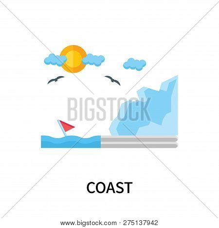 Coast Icon Isolated On White Background. Coast Icon Simple Sign. Coast Icon Trendy And Modern Symbol