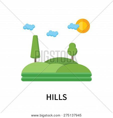 Hills Icon Isolated On White Background. Hills Icon Simple Sign. Hills Icon Trendy And Modern Symbol