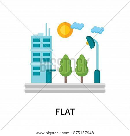Flat Icon Isolated On White Background. Flat Icon Simple Sign. Flat Icon Trendy And Modern Symbol Fo