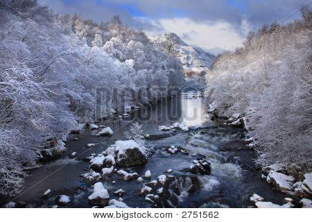 A Scottish River In Winter