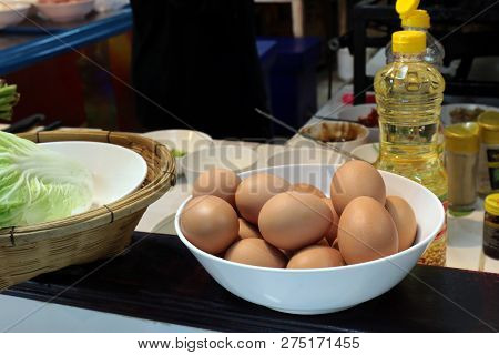 Eggs In A Bowl At The Kitchen Room Thai Easy Foods