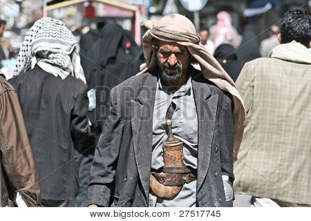 Man With Janbiya In The Old Town Of Sanaa (yemen).