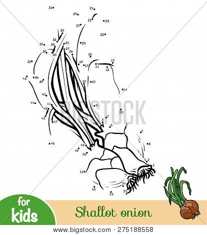 Numbers Game, Education Dot To Dot Game For Children, Shallot Onion