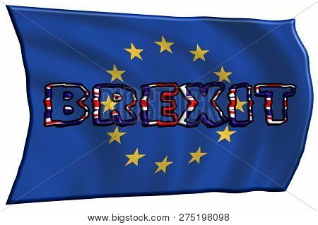 3d-illustration. United Kingdom And Gibraltar European Union Membership Referendum Referendum Outlet