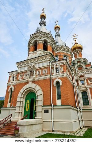 Orthodoxy Church In Uralsk City. Kazakhstan. Temple Of The Christ Of The Savior.