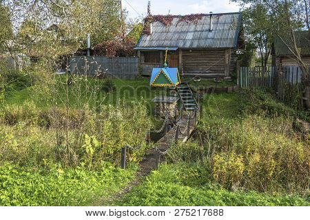 Nikolin Source In The Village Of Vyatskoye On A Sunny Summer Day, Russia.
