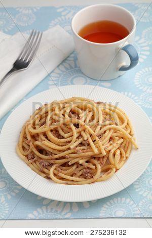 Russian pasta Navy Style closeup
