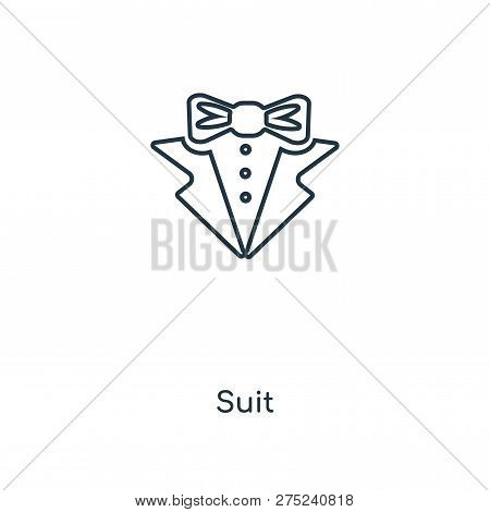 Suit Icon In Trendy Design Style. Suit Icon Isolated On White Background. Suit Vector Icon Simple An