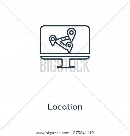 Location Icon Trendy Vector & Photo (Free Trial) | Bigstock