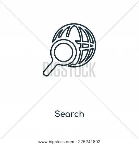 Search Icon In Trendy Design Style. Search Icon Isolated On White Background. Search Vector Icon Sim