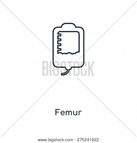 Femur Icon In Trendy Design Style. Femur Icon Isolated On White Background. Femur Vector Icon Simple