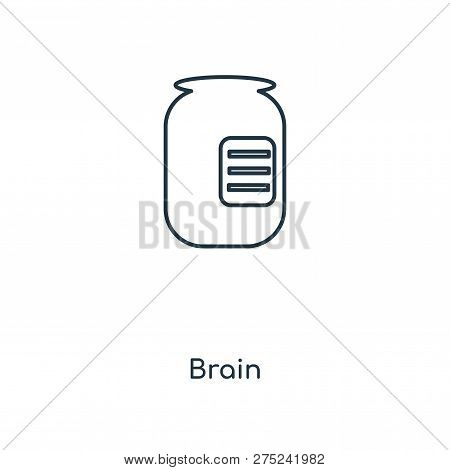 Brain Icon In Trendy Design Style. Brain Icon Isolated On White Background. Brain Vector Icon Simple