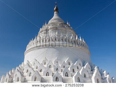 The White Pagoda Of Hsinbyume (mya Thein Dan Pagoda ) Paya Templ. Version 2.