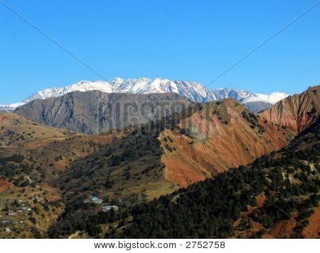 Viel Schnee der Alpen