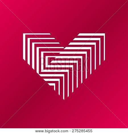 Vector Heart Logo. V Letter Logo Design. Vector Heart Logo. V Letter Logo Design. Logo Of Heart Made