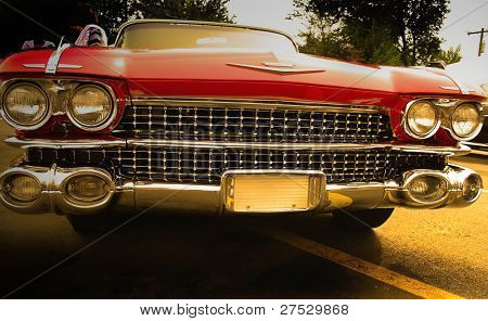 American muscle car with warm color tone