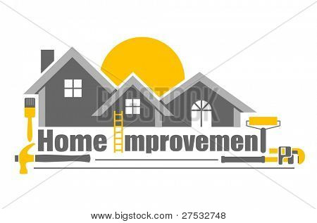 Vector illustration of home improvement icon