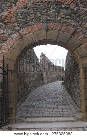 Entrance Gate To The Bolkow Castle In Lower Silesia In Poland