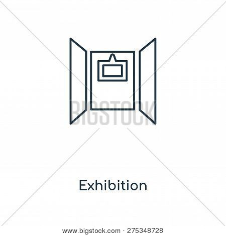 Exhibition Icon In Trendy Design Style. Exhibition Icon Isolated On White Background. Exhibition Vec