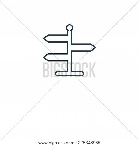 Signs Icon In Trendy Design Style. Signs Icon Isolated On White Background. Signs Vector Icon Simple
