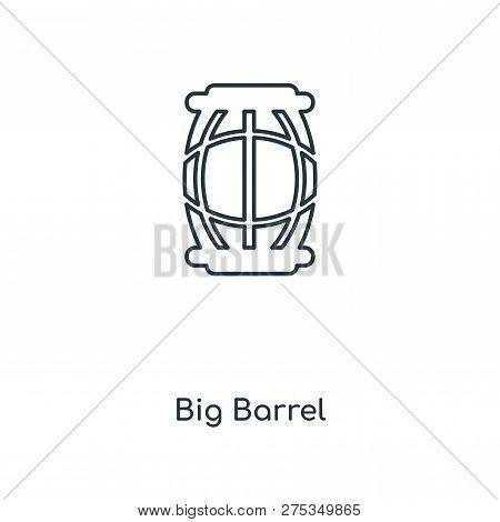 Big Barrel Icon In Trendy Design Style. Big Barrel Icon Isolated On White Background. Big Barrel Vec