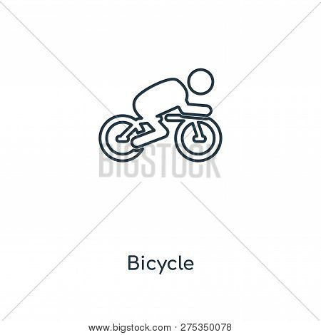 Bicycle Icon In Trendy Design Style. Bicycle Icon Isolated On White Background. Bicycle Vector Icon