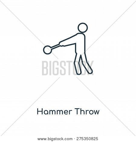 Hammer Throw Icon In Trendy Design Style. Hammer Throw Icon Isolated On White Background. Hammer Thr