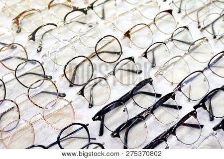 Glasses, Eyeglasses Optical Store, Fashion Eyewear At Night Market, Colorful Glasses, Glasses On She
