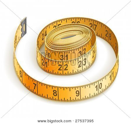 tape measure vector illustration isolated on white background