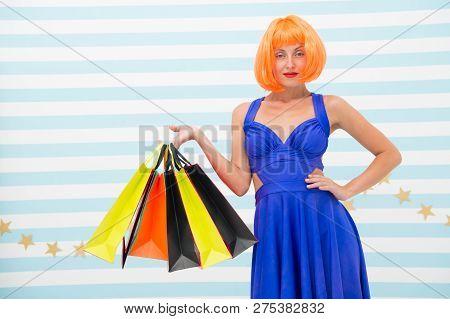 It Is Bargain. Fashion. Black Friday Sales. Happy Woman Go Shopping. Happy Shopping Online. Happy Ho