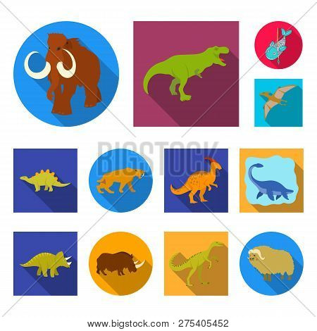 Vector Illustration Of Animal And Character Sign. Collection Of Animal And Ancient  Vector Icon For