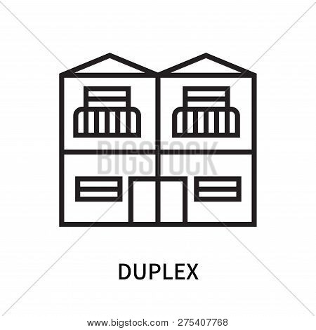 Duplex Icon Isolated On White Background. Duplex Icon Simple Sign. Duplex Icon Trendy And Modern Sym