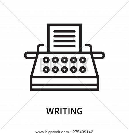 Writing Icon Isolated On White Background. Writing Icon Simple Sign. Writing Icon Trendy And Modern