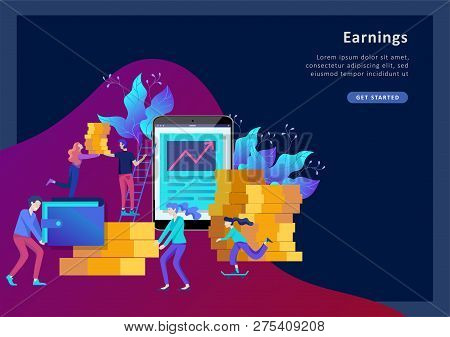 Concept Landing Page Template. Financial Investments, Investment In Innovation, Marketing, Analysis,