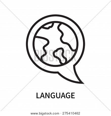 Language Icon Isolated On White Background. Language Icon Simple Sign. Language Icon Trendy And Mode