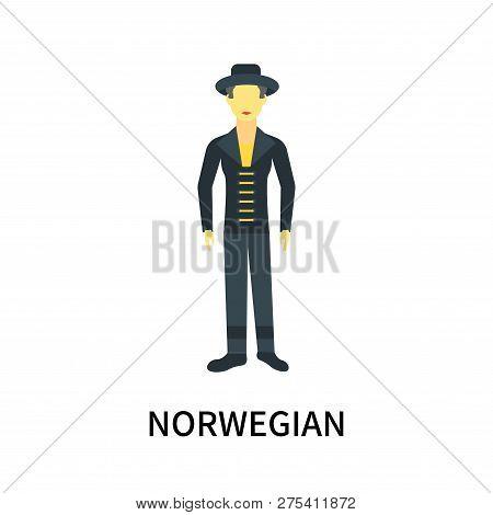 Norwegian Icon Isolated On White Background. Norwegian Icon Simple Sign. Norwegian Icon Trendy And M