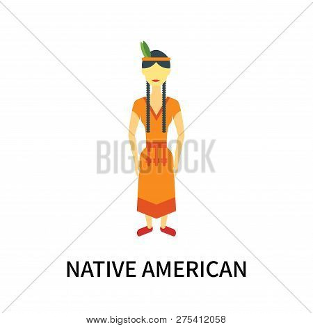Native American Icon Isolated On White Background. Native American Icon Simple Sign. Native American