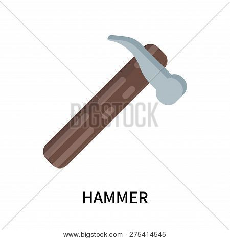 Hammer Icon Isolated On White Background. Hammer Icon Simple Sign. Hammer Icon Trendy And Modern Sym