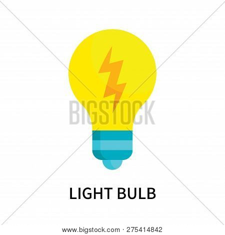 Light Bulb Icon Isolated On White Background. Light Bulb Icon Simple Sign. Light Bulb Icon Trendy An