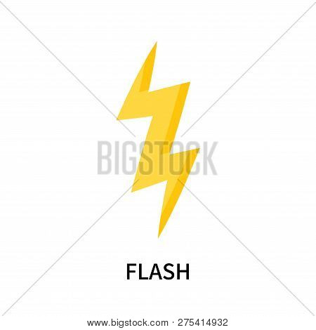 Flash Icon Isolated On White Background. Flash Icon Simple Sign. Flash Icon Trendy And Modern Symbol