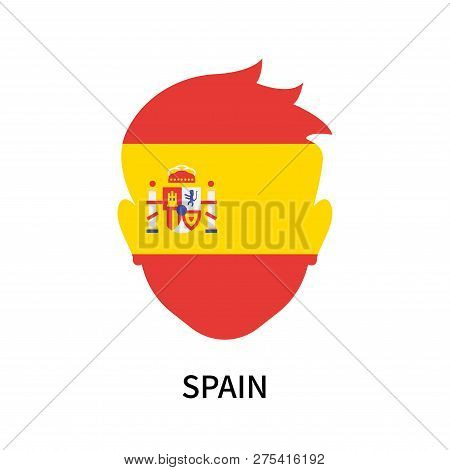 Spain Icon Isolated On White Background. Spain Icon Simple Sign. Spain Icon Trendy And Modern Symbol