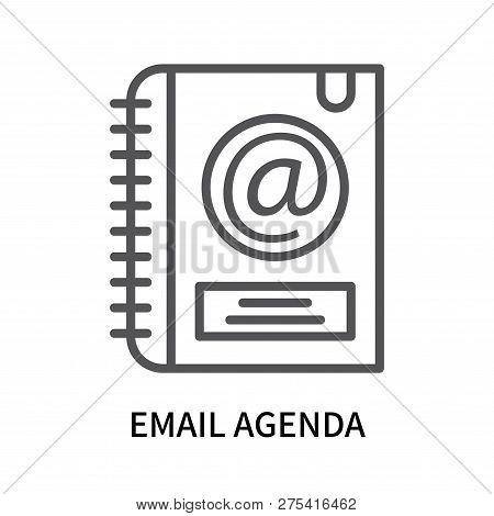 Email Agenda Icon Isolated On White Background. Email Agenda Icon Simple Sign. Email Agenda Icon Tre