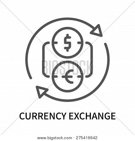 Currency Exchange Icon Isolated On White Background. Currency Exchange Icon Simple Sign. Currency Ex