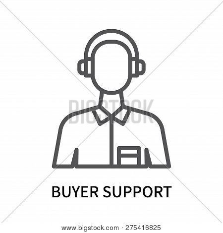 Buyer Support Icon Isolated On White Background. Buyer Support Icon Simple Sign. Buyer Support Icon