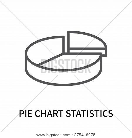 Pie Chart Statistics Icon Isolated On White Background. Pie Chart Statistics Icon Simple Sign. Pie C