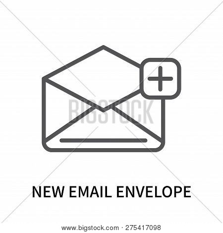 New Email Envelope Icon Isolated On White Background. New Email Envelope Icon Simple Sign. New Email